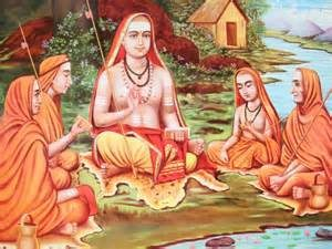 Adi Sankaracharya with group of disciples